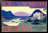 Hotel St. Gotthard, Zurich Framed Giclee Print