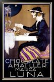 Chocolate Amatller, Luna Framed Giclee Print by Rafael de Penagos