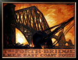 The Forth Bridge, LNER East Coast Route Framed Giclee Print