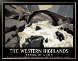 The Western Highlands, Travel by LNER Framed Giclee Print