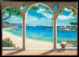 Mediterranean Bay Art by Robert Dominguez