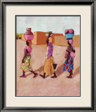 Three Africans Prints by Kalou