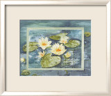 Flowers of Water Print by Martina Reimann