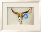 Ram's Head, Blue Morning Glory Arte por Georgia O'Keeffe