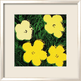Flowers, c.1970 (Yellow) Print by Andy Warhol