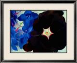Schwarze Malve, Blauer Rittersporn Kunstdrucke von Georgia O'Keeffe