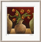 Red Tulips Limited Edition Framed Print by Georgia Rene