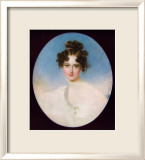 Lady with a Pearl Necklet Prints by Moritz Michael Daffinger