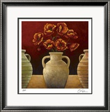 Red Poppies Limited Edition Framed Print by Georgia Rene
