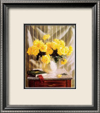 Yellow Roses Prints by Robin Anderson
