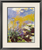 Les Agapanthes Print by Claude Monet