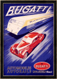 Bugatti Framed Giclee Print by R. Geri