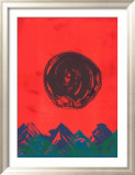 Naturstein Blau Posters by Otto Piene