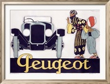 Peugeot Reproduction giclée encadrée