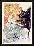 Steinway Gerahmter Gicl&#233;e-Druck von Von Axster-Heudtlass