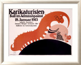 Karikaturisten Ball Framed Giclee Print by Klinger 