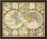 Antique World Globes Poster