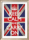 Keep Calm And Carry On - Restez calme et continuez Posters