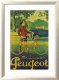 Cycles Peugeot Estampe encadrée par Almery Lobel-riche