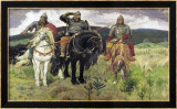 Bogatiri Kunst von Victor Mikhailovich Vasnetsov