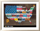 Fifty State Flag Prints by Aaron Foster