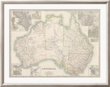 Australia Map 1880 Limited Edition Framed Print by Keith Johnston