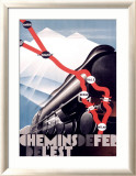 Chemin de Fer de l&#39;Est Framed Giclee Print by Theodoro 