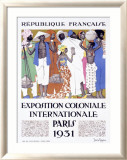 Exposition Coloniale, Paris 1931 Estampe encadrée par Jacques de la Neziere