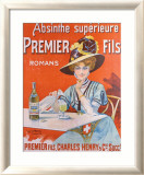 Absinthe Superieur Framed Giclee Print by Van Der Thurm 