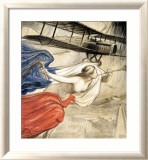 Locomotion Aerienne Framed Giclee Print by Fouqueray 
