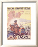Exposition Lyonnaise Framed Giclee Print by Marcellin Auzolle