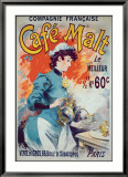 Cafe Malt Framed Giclee Print by Lucien Lefevre