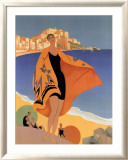 La Plage de Calvi Posters by Roger Broders