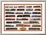 Locomotives à vapeur Poster