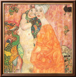 Freunddinnen Posters by Gustav Klimt