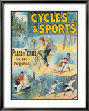 Exposition Internationale, Cycles & Sports Framed Giclee Print by Lucien Lefevre