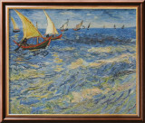 Seascape at Saintes-Maries, c.1888 Art par Vincent van Gogh