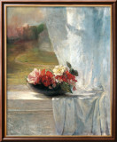 Flowers on a Window Ledge Poster by John Lafarge