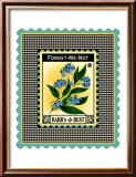 Forget Me Not Flower Framed Giclee Print