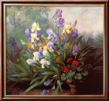 Landscape with Irises Prints by Barbara Koch