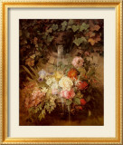 Flowers under a Lion Fountain Posters by Auguste W. Reichelt