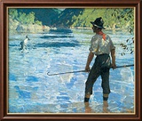 Salmon Fishing, 1927 Arte por Frank Weston Benson