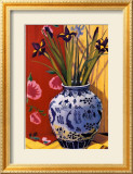 Irises in an Oriental Vase I Posters by Curtis Kelly