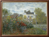 The Artist's Garden in Argenteuil, c.1873 Prints by Claude Monet
