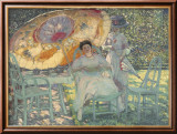 The Garden Parasol, 1910 Prints by Frederick Carl Frieseke