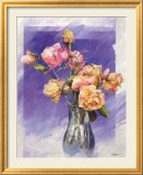 Roses with a Blue Vase Poster by I. Kupper