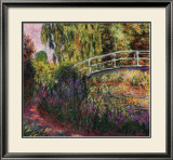 Pont Japonais-Bassin aux Nympheas Art by Claude Monet