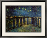 Starry Night Over the Rhone, c.1888 Art by Vincent van Gogh
