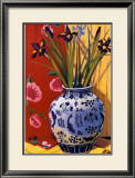 Irises in an Oriental Vase I Prints by Curtis Kelly