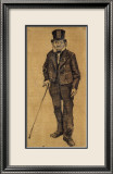 Orphan Man with Top Hat and Stick Plakat af Vincent van Gogh